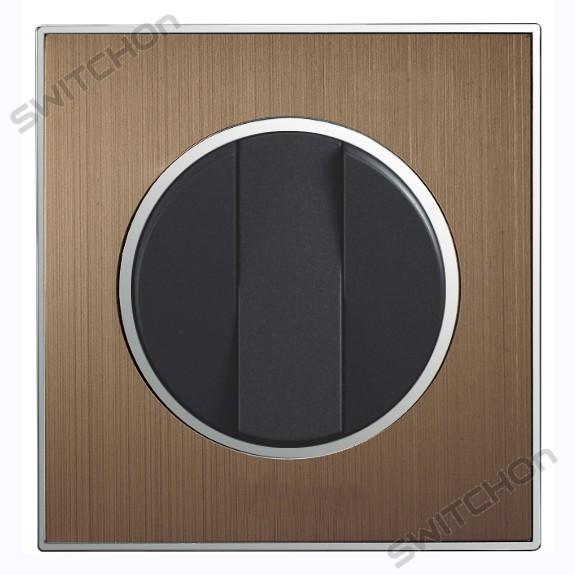 Metal Bronze Designer Round Light Switch