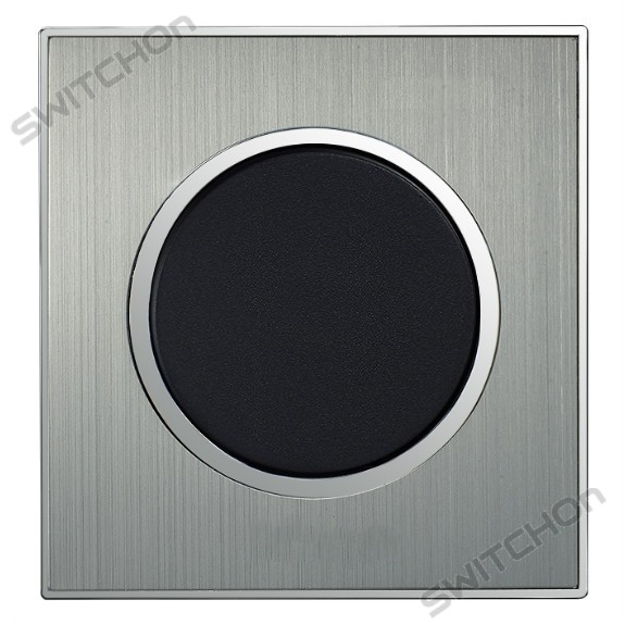 Round Brushed Satin Silver Single Light Switch 1 Gang 2 Way