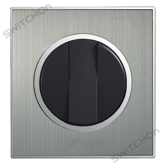 Round Brushed Satin Silver Triple Light Switch 3 Gang 2 Way