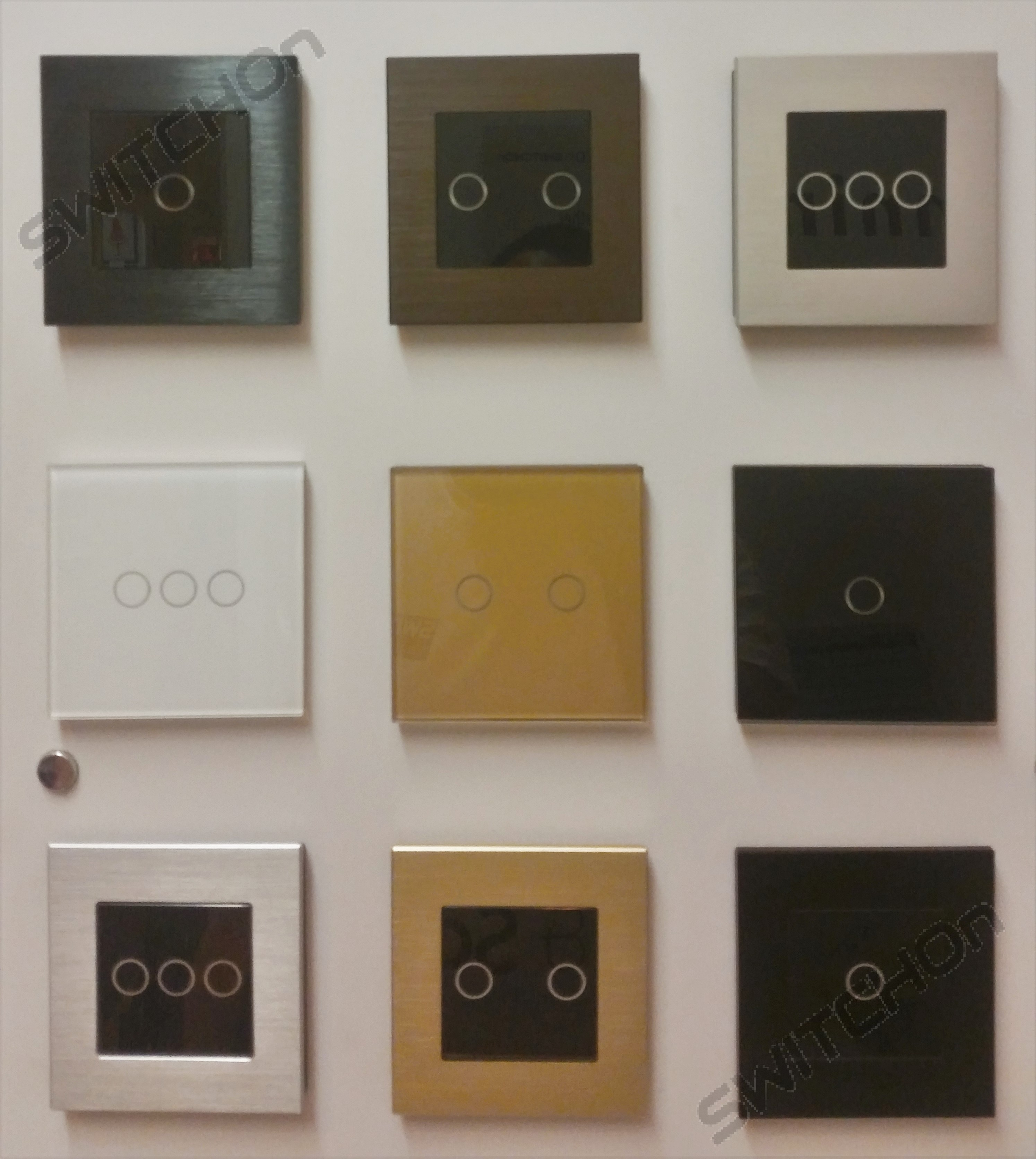Glass touch dimmers LED Compatible (1, 2, 3 Gang in White, Gold or Black)