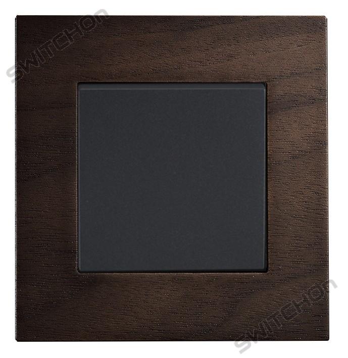 1gang Light Switch Real Wood; Oak Colour