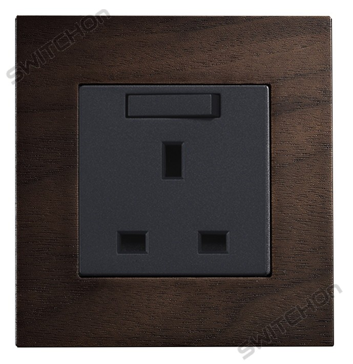 Real Wood 13amp Wall Socket