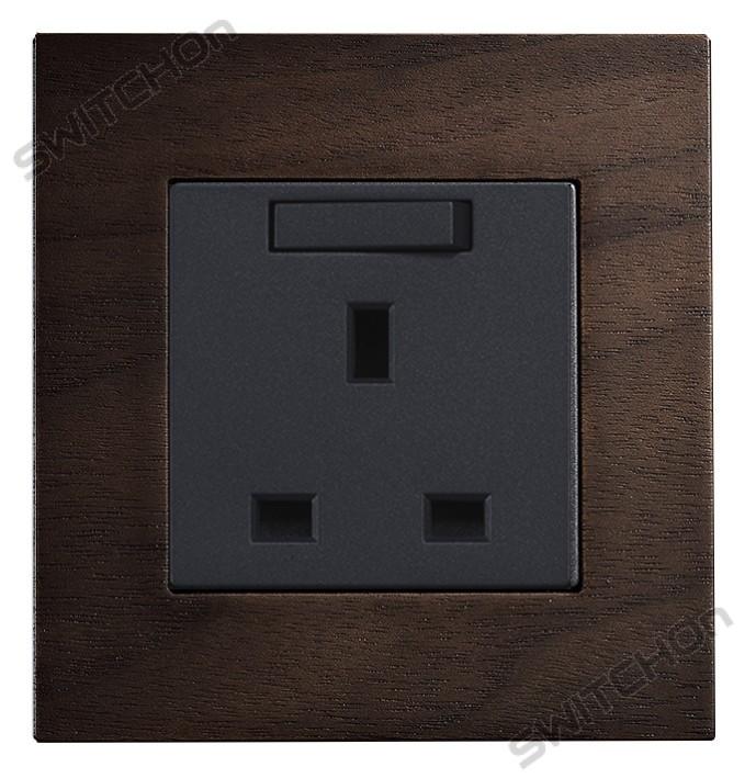 Real Wood 13amp Wall Socket