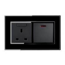 20 amp Appliance Switch with Neon in Black Mirror