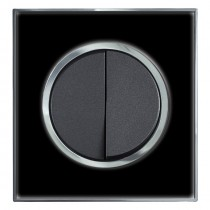 White Mirror Round Light Switch 1 Gang 2 Way