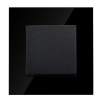 Black Glass 1 Gang 2 Way Light Switch
