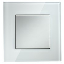 Crystal White 1 Gang 2 Way Light Switch