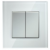 Crystal White 2 Gang 2 Way Light Switch