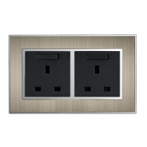 Bronze 13A Double Socket 2 gang