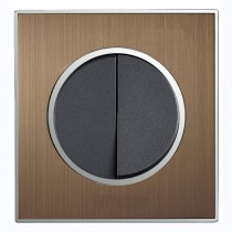 Satin Bronze Metal Light Switch Designer Round