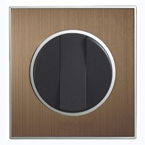 Metal Bronze Designer Round Light Switch