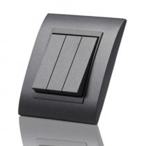 PC Anthracite Grey 3 gang light switch - Good looking