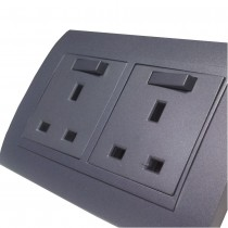 13 amp Double Sockets Designer range grey