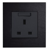 Real Wood wall Plug Socket