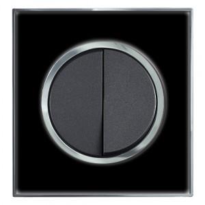 White Mirror Round Light Switch 1 Gang 2 Way
