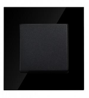 Black Glass 1 Gang 2 Way Light Switch