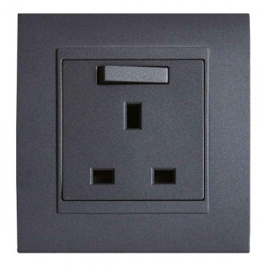 Good Looking 13A single socket grey anthracite